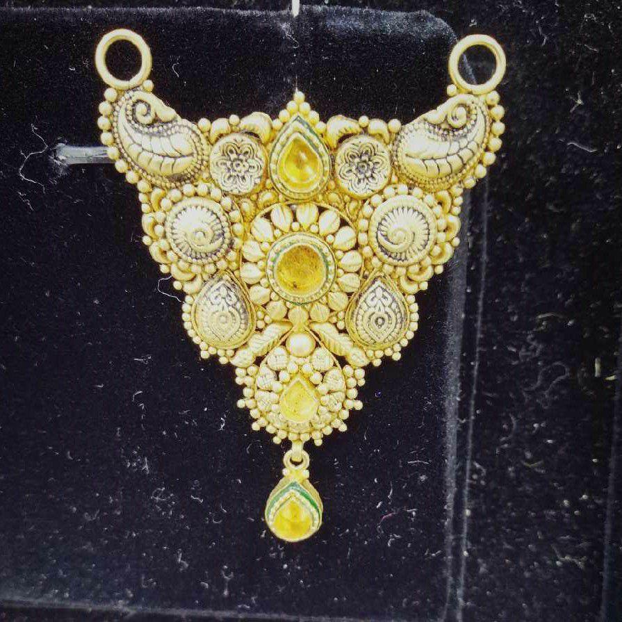 916 Antique Gold Mangalsutra Pendant
