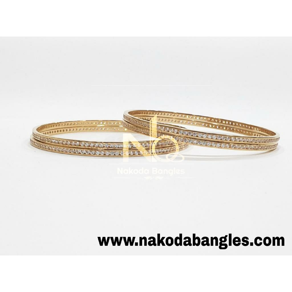 916 Gold CNC Bangles NB - 989