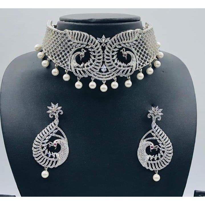 925 Silver Necklace Set Sl_01