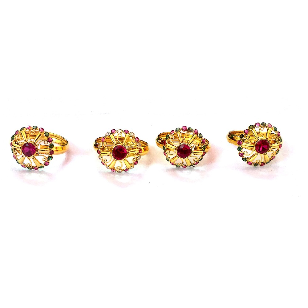 Fancy Color Stone Gold Rings NJA-R008