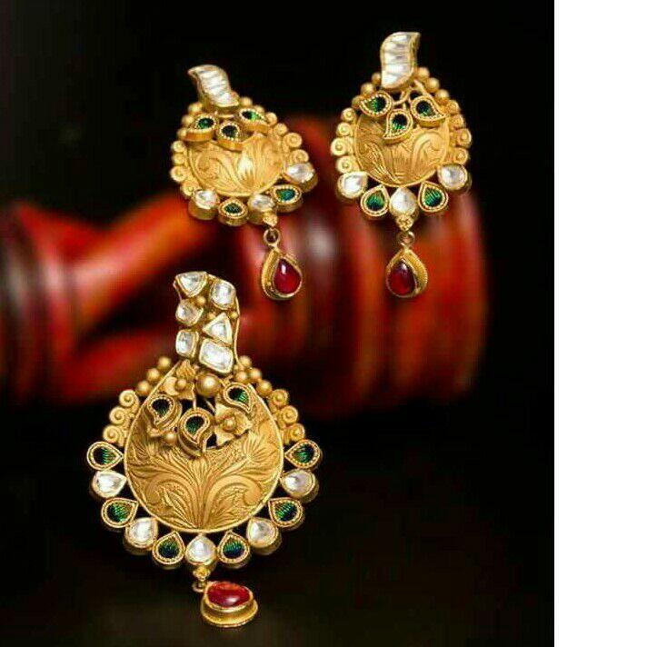 22K / 916 Gold Antique Pendant Set