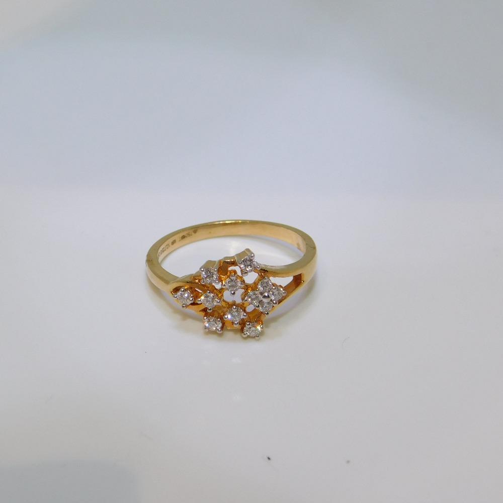 18K gold diamond Ring agj-lr-126