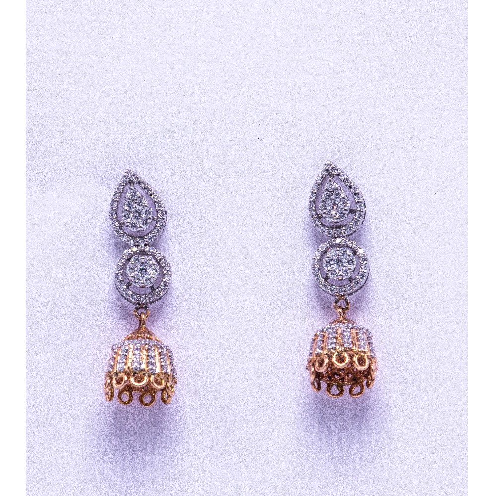 18k  gold diamond jumkha agj-er-03