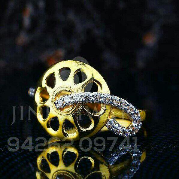 Gold Casting Cz fancy Ladies Ring LRG -0149