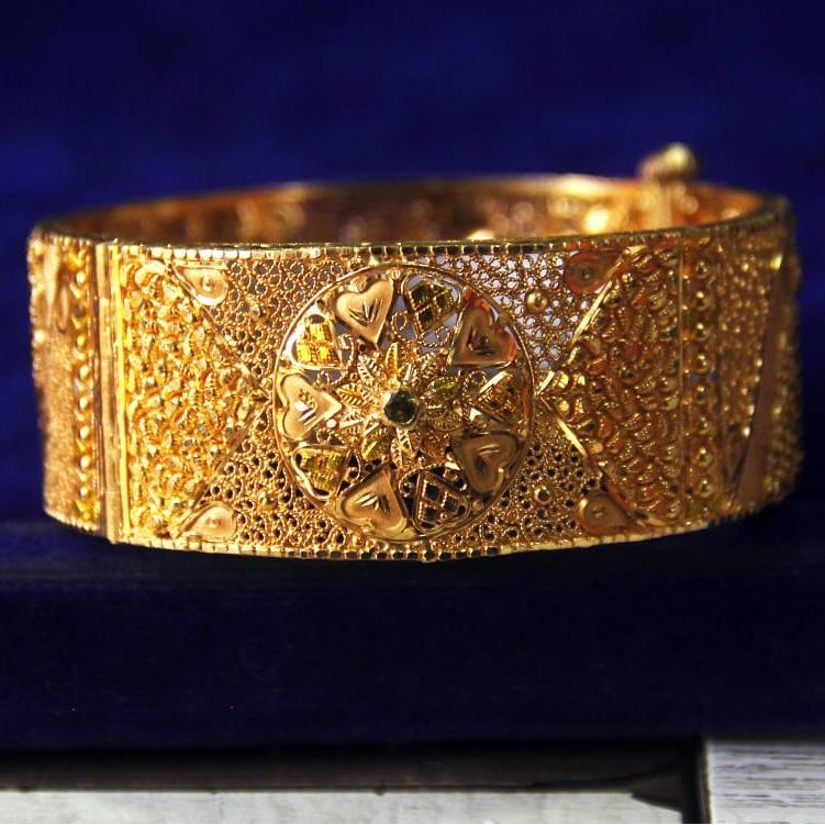 916 Gold Designer Kada For Women SRN-B001