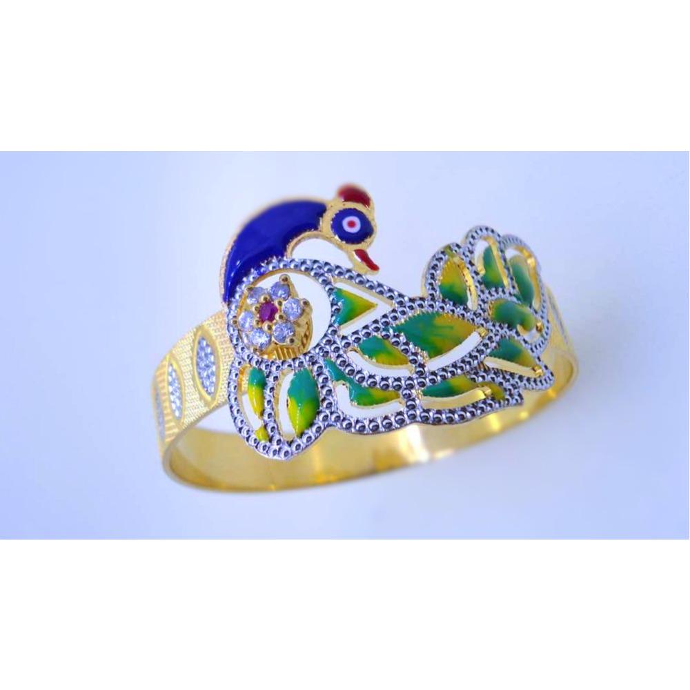 916 Gold Peacock Design CNC Casting Ladies Kada SB-B013