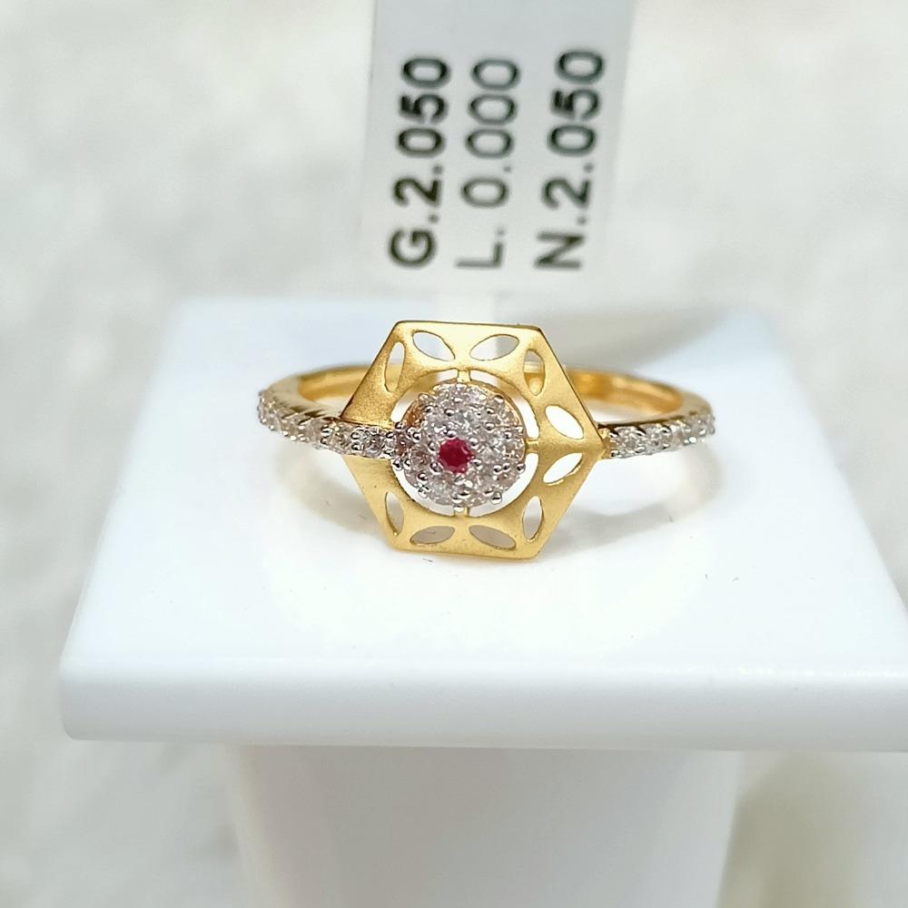 22 kt hexagon shape fancy ring
