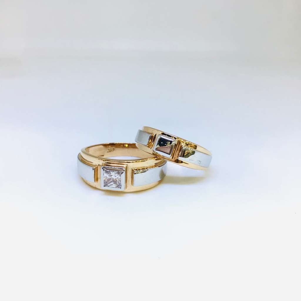 DESIGNING FANCY ROSE GOLD COUPLE RINGS