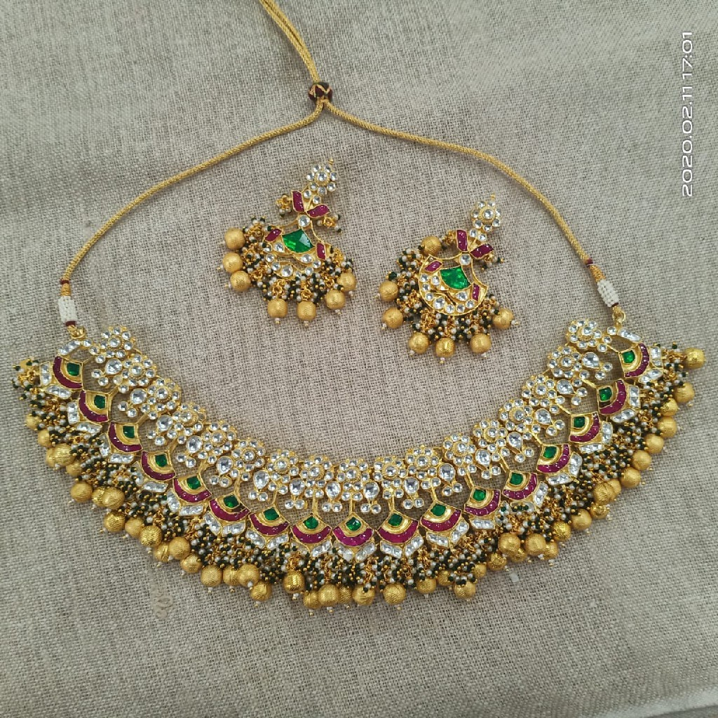 Colourful designer necklace set#002