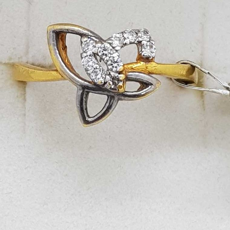 916 Gold black rhodium Ladies Ring SJ-LR/166