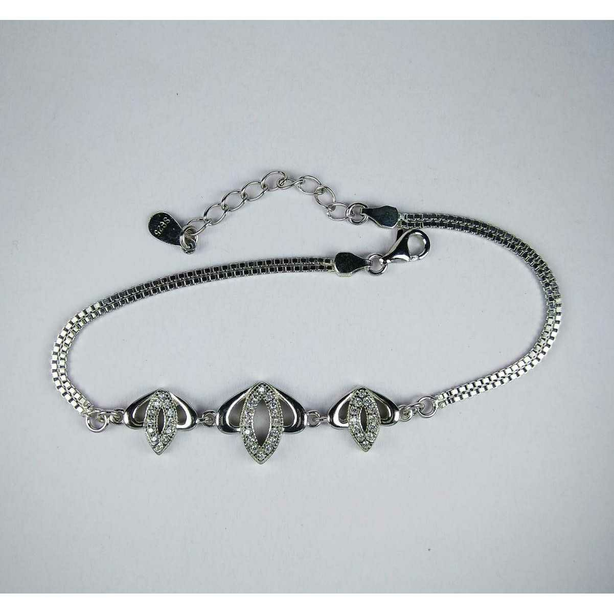 Unique 925 Silver Ladies Bracelet