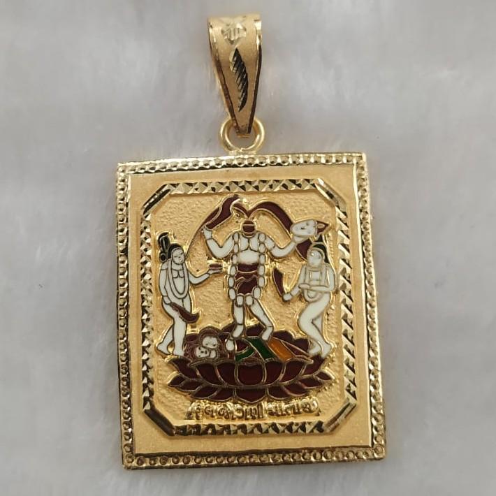 916 Gold Fancy Fuljogani Maa Pendant