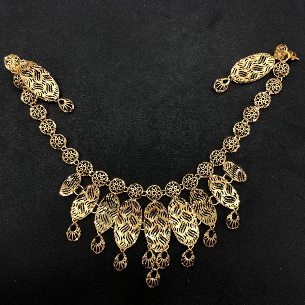 22K Gold Delicate Necklace Set