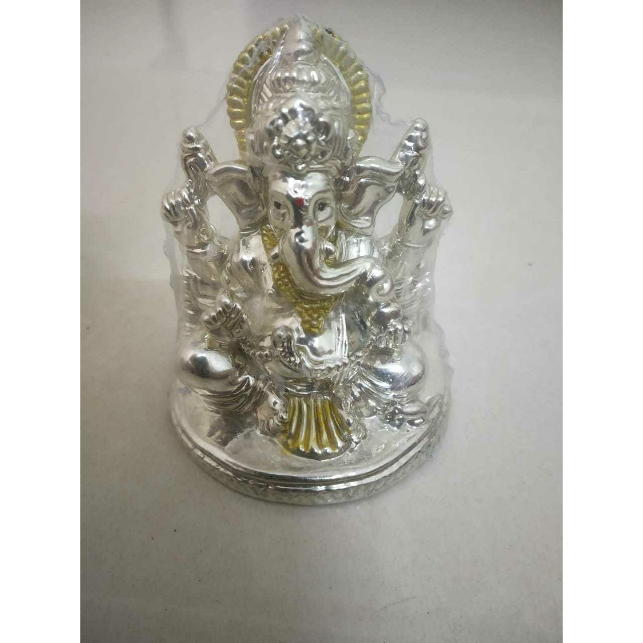 Plating Finish Ganpatiji Murti(Bhagvan,God,Idols) Ms-1966