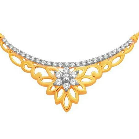18K Gold Real Diamond Mangalsutra MGA - RMS0013