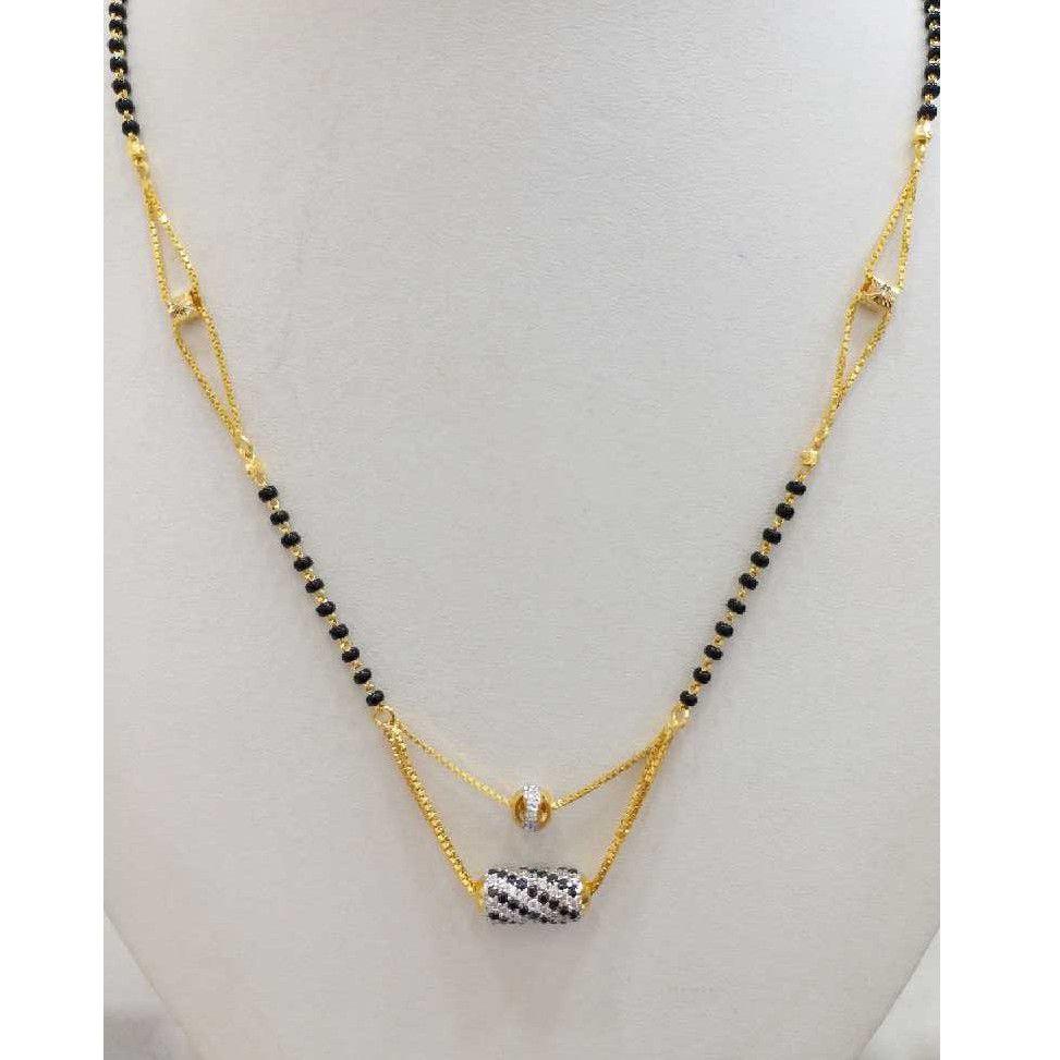 916 gold chain mangalsutra RJ-M026