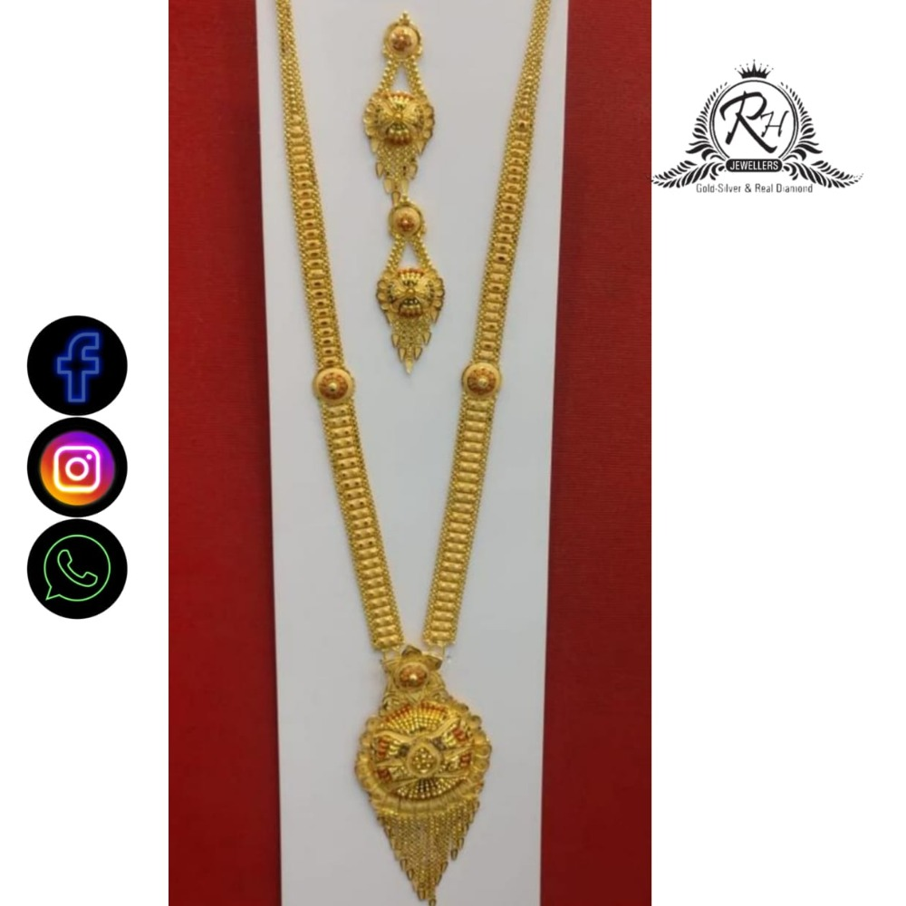 22 carat gold  antique long set RH-NS594