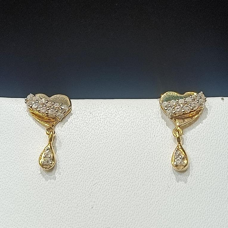 18CT Gold Hallmark Heart Design Tops