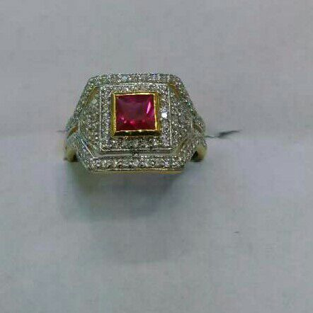 22K/916 Gold Single Stone Exclusive Ring