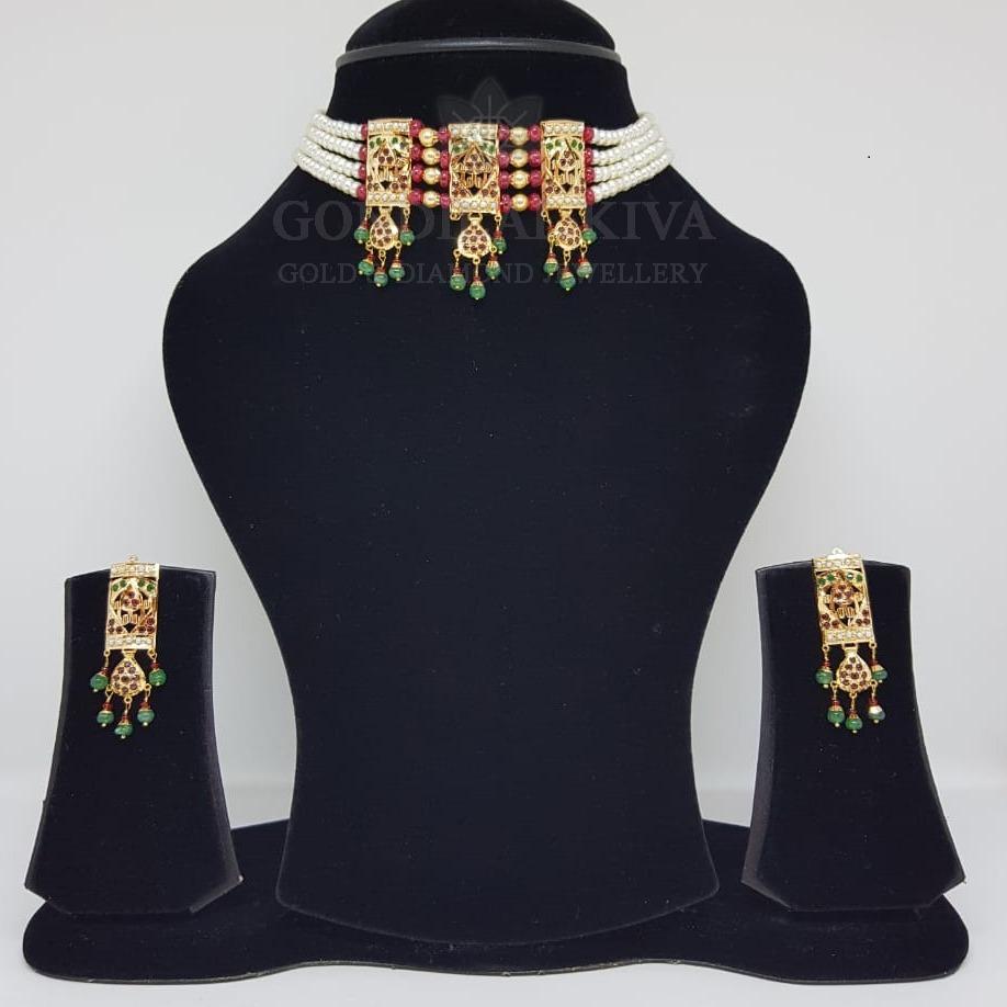 18kt gold necklace set gnl173 - gft437