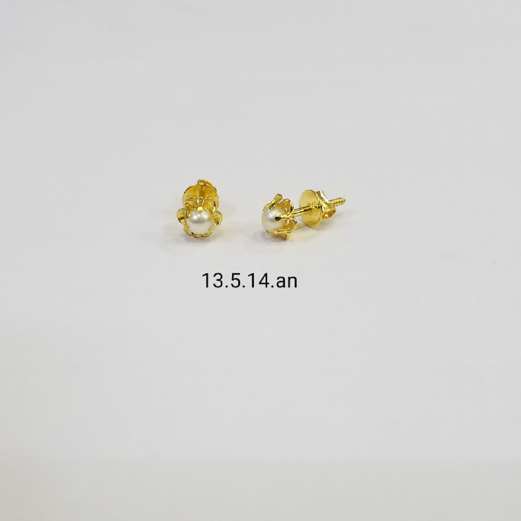 18kt gold c ston butti UL5014