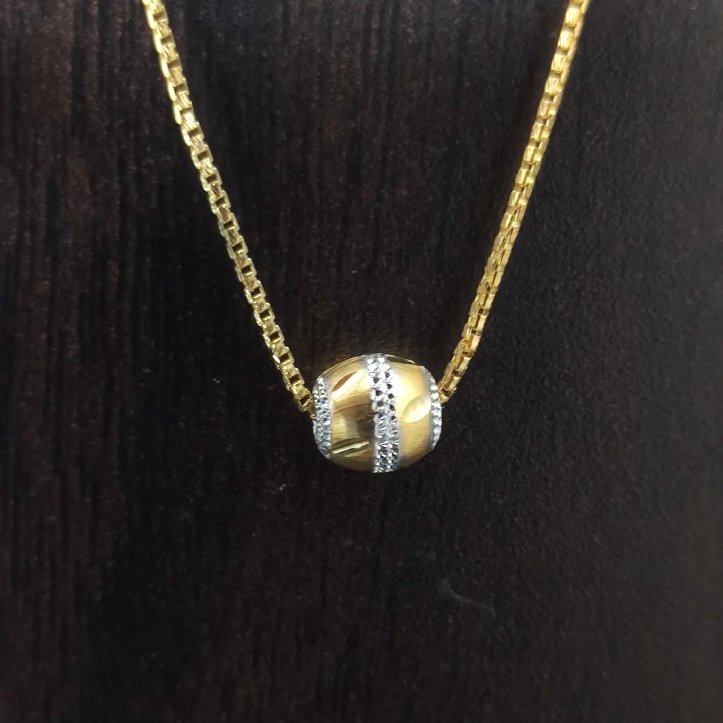 916 gold fancy  lite weight chain 4.5gm