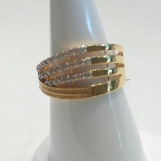 916 CZ Gold Stunning Ring