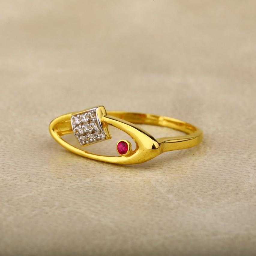 Ladies ring 916 cz