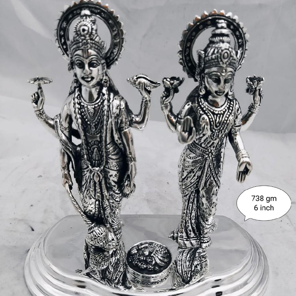 Silver laxmi narayan idol jys0016
