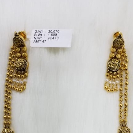 22KT Gold Necklace With pearl Superfect Fetting