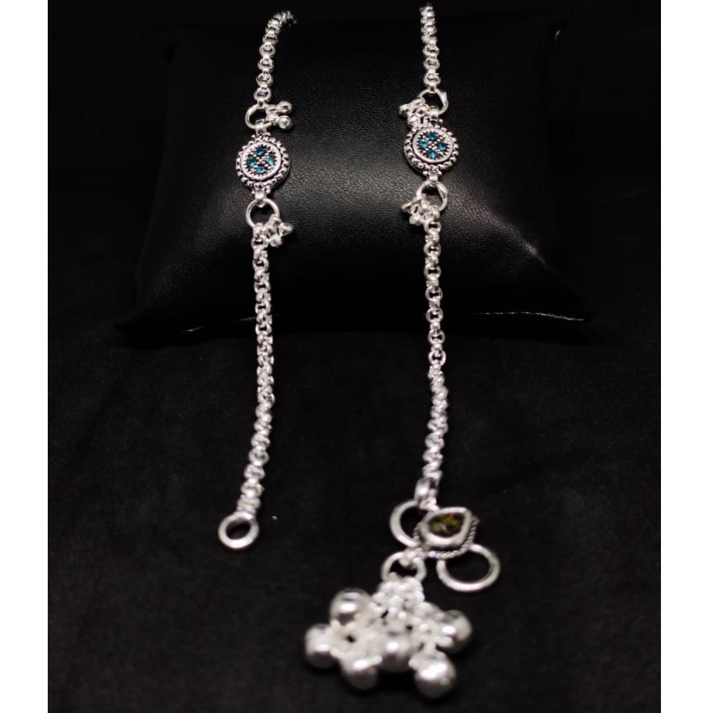 silver fancy anklet payal RH-LA885