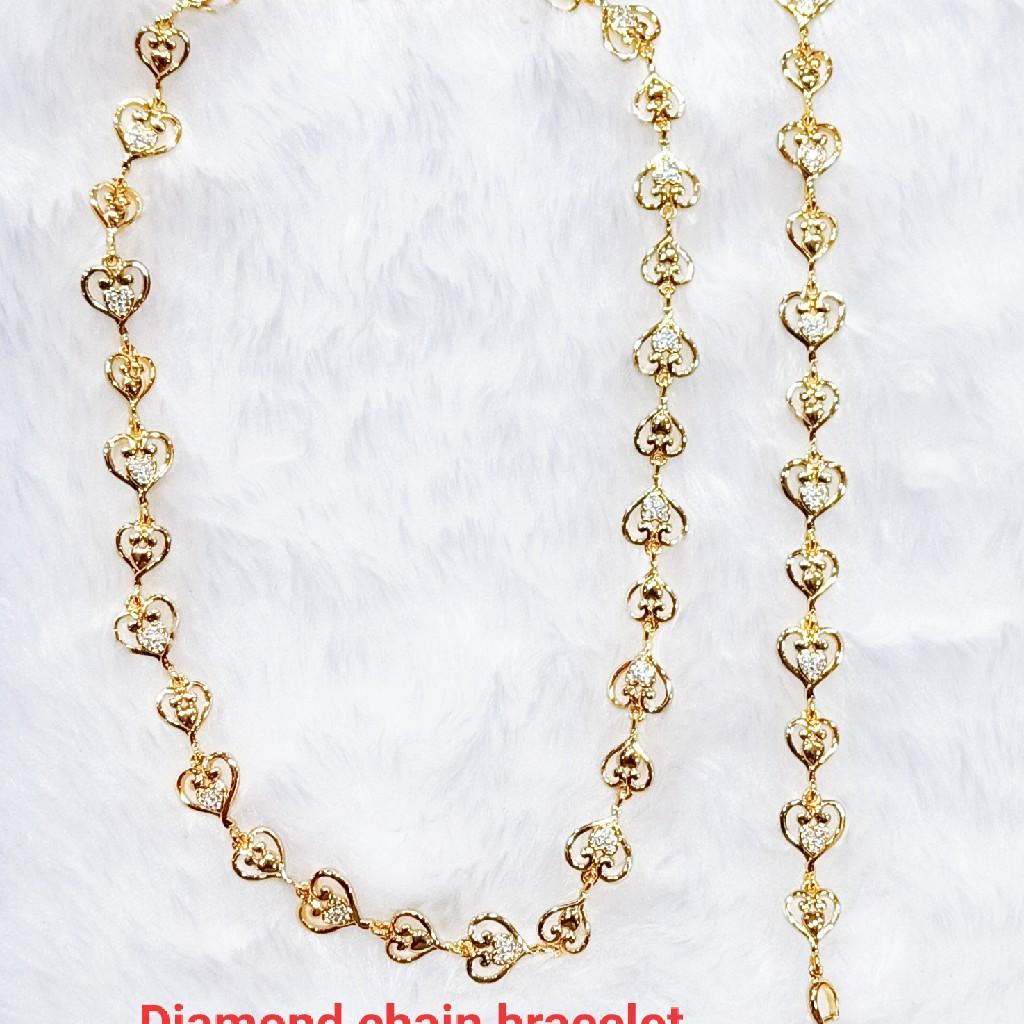 Dimond chain bracelet 24color plating