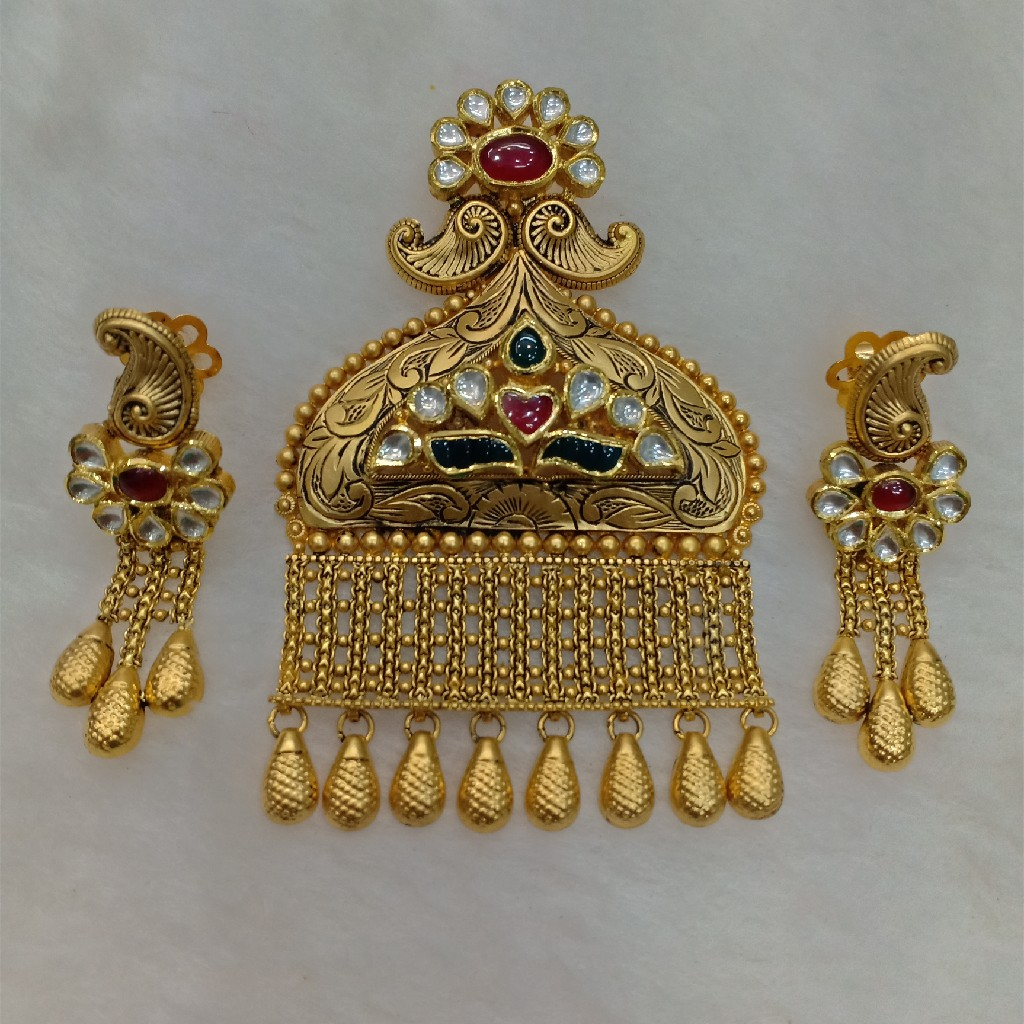 91.6 Gold Antique Pendant Set aps-011