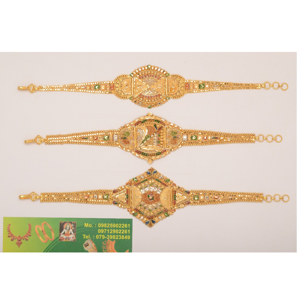 916 Gold Traditional Bajubandh