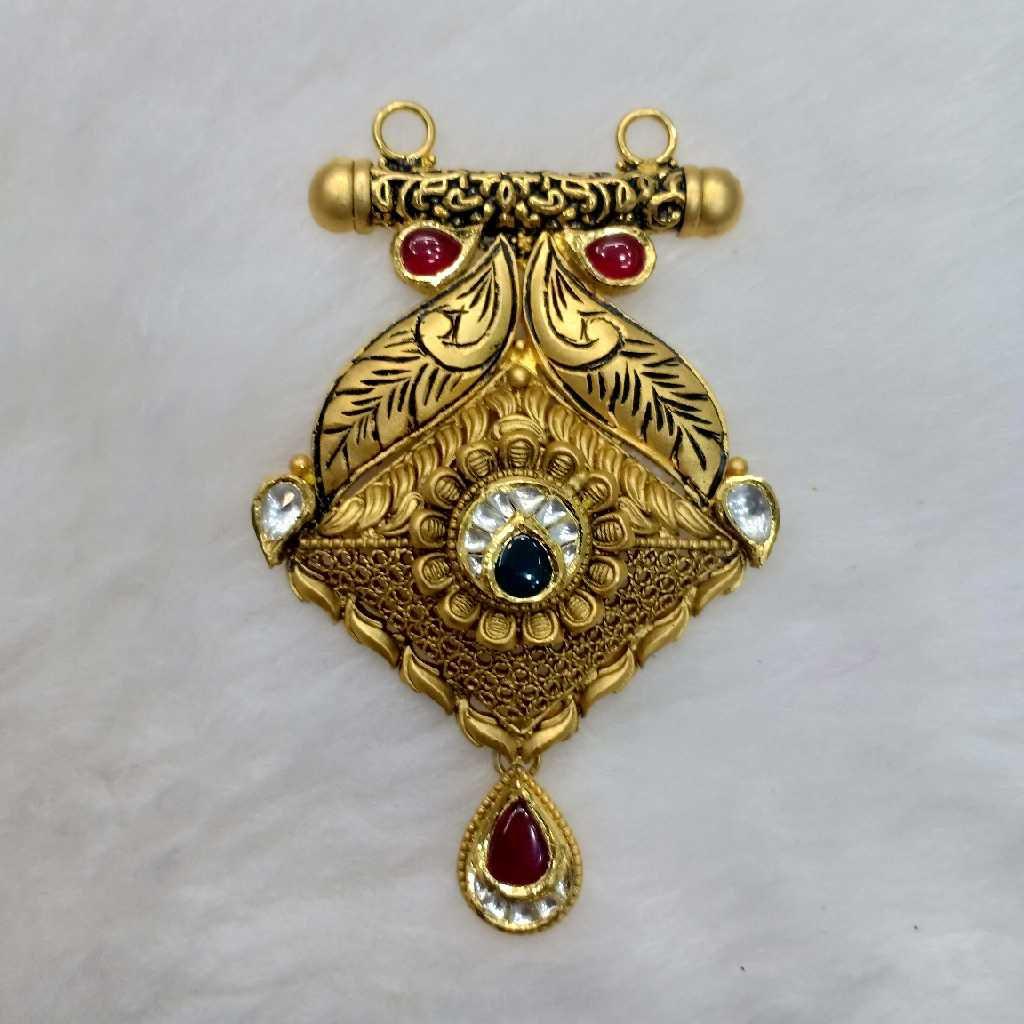 916 Gold Antique Bridal Mangalsutra Pendant