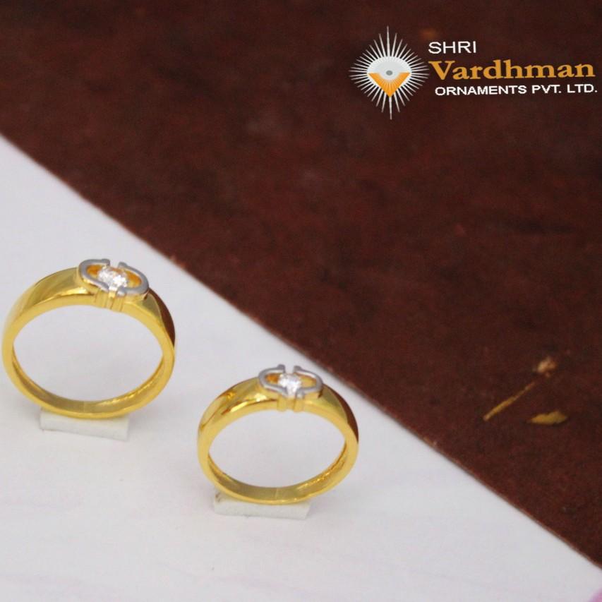 22ct(916) c.z couple rings