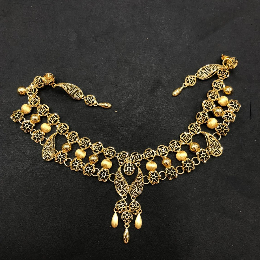 22K Gold Trendy Turkish Necklace Set
