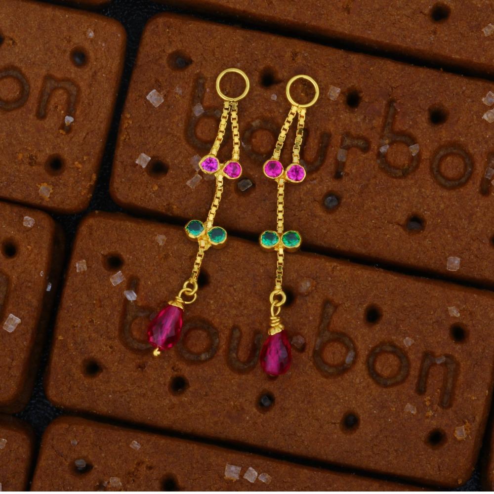 22K Gold Delicate Latkan Earrings JJ-004