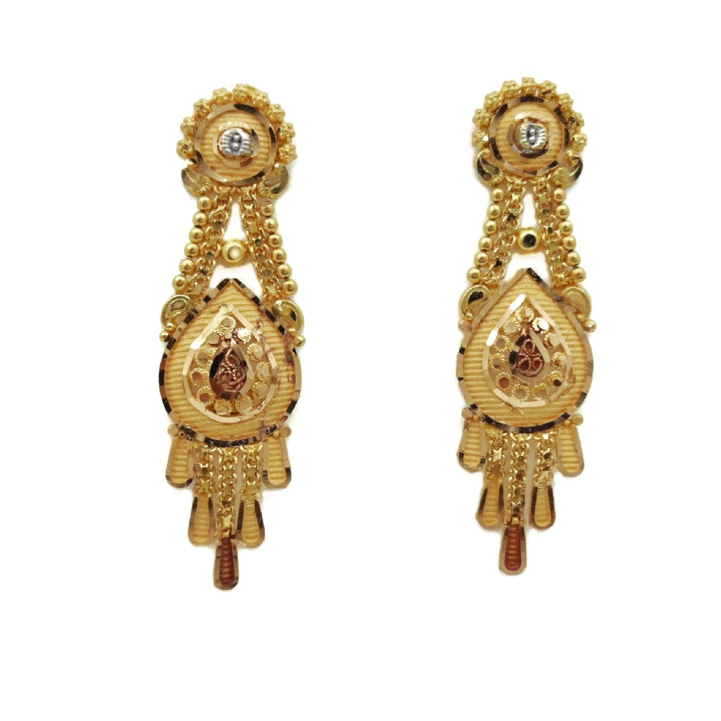 22K Gold Culcutti Necklace with Earrings NSG0028