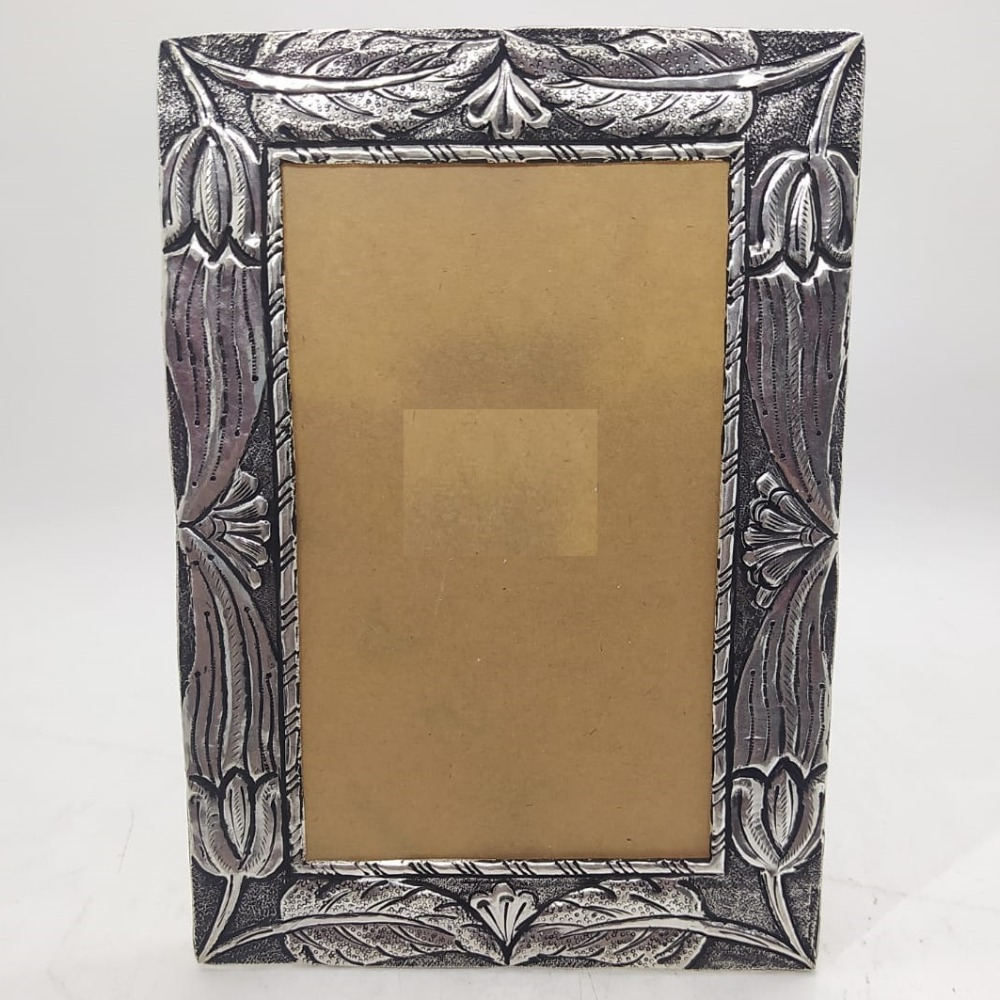 925 Pure Silver Photo Frame In Antique Nakashii work PO-171-22