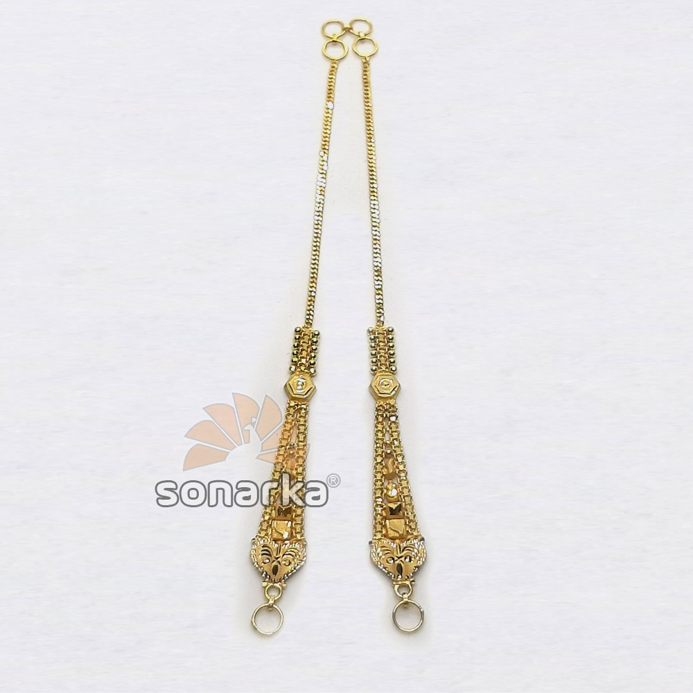 Gold Earchain SK - K026