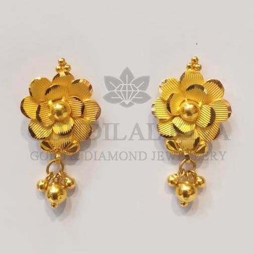 22kt gold tops floral