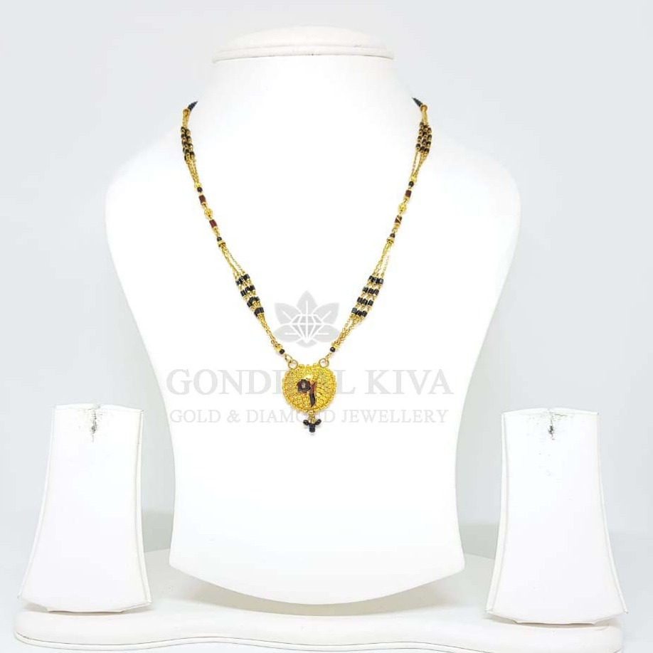 18kt gold mangalsutra gms17
