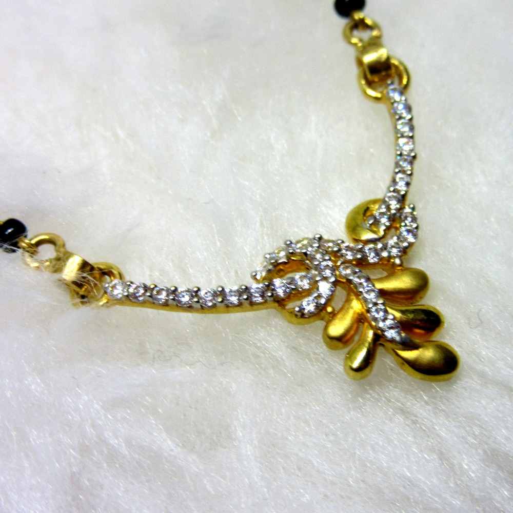 Gold diamond designer mangalsutra