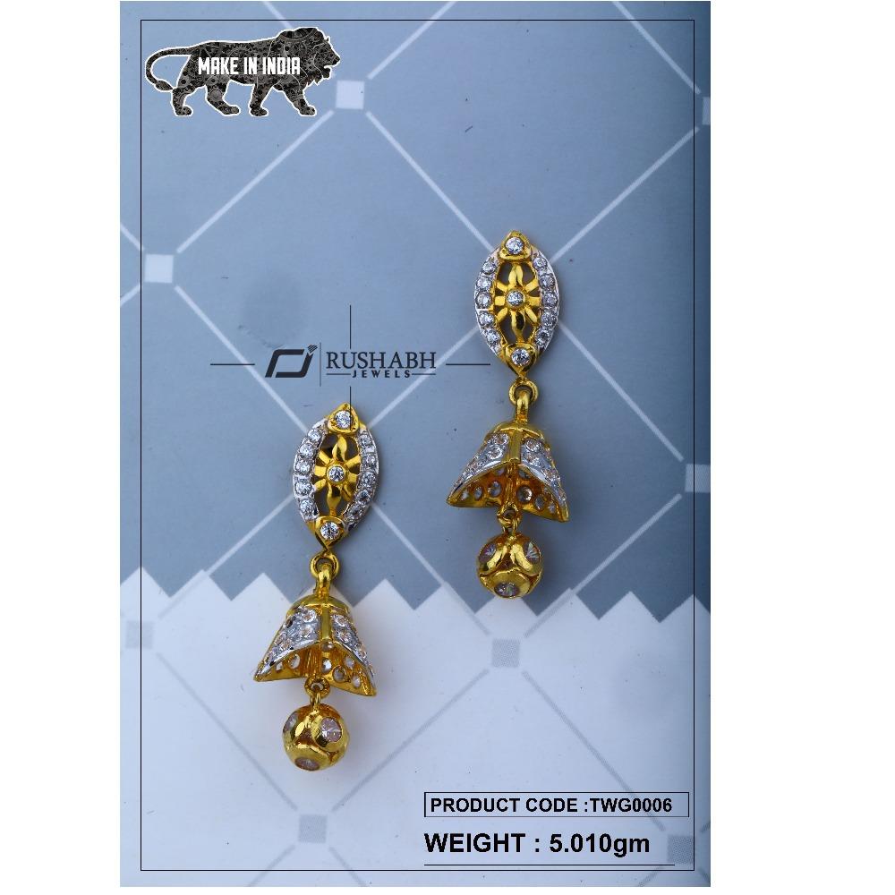 18 carat Gold ladies zummer tops  long earrings twg0006