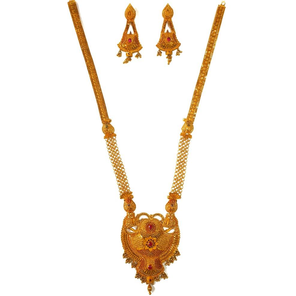 1 gram gold forming necklace set mga - gfn0033