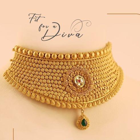 Aad kundan chokar set 916 bridal set rajputi gold