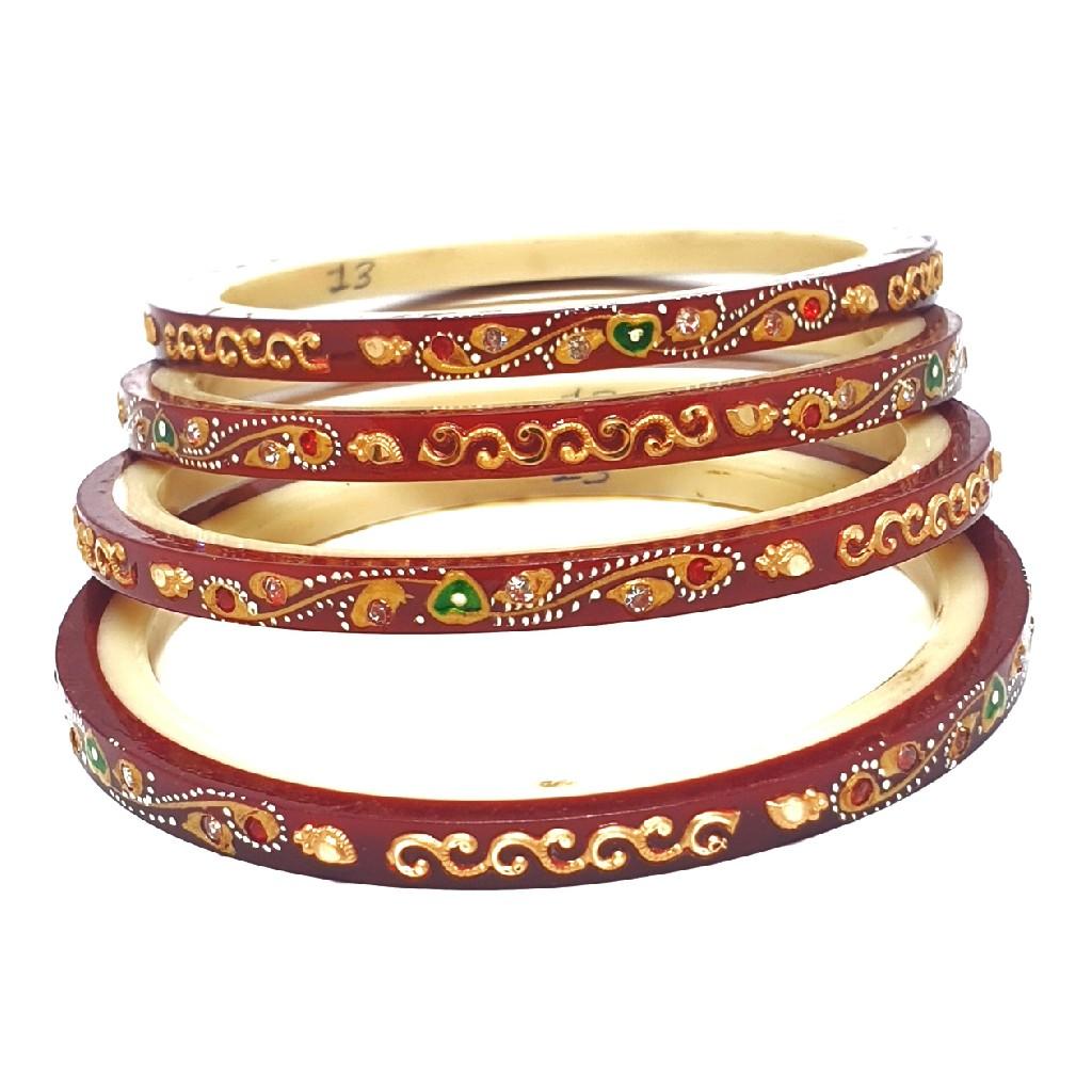 22k gold printed designer chudla bangles mga - cdg0020