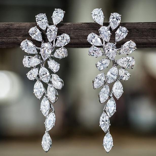 beautiful raindrop marquise earring