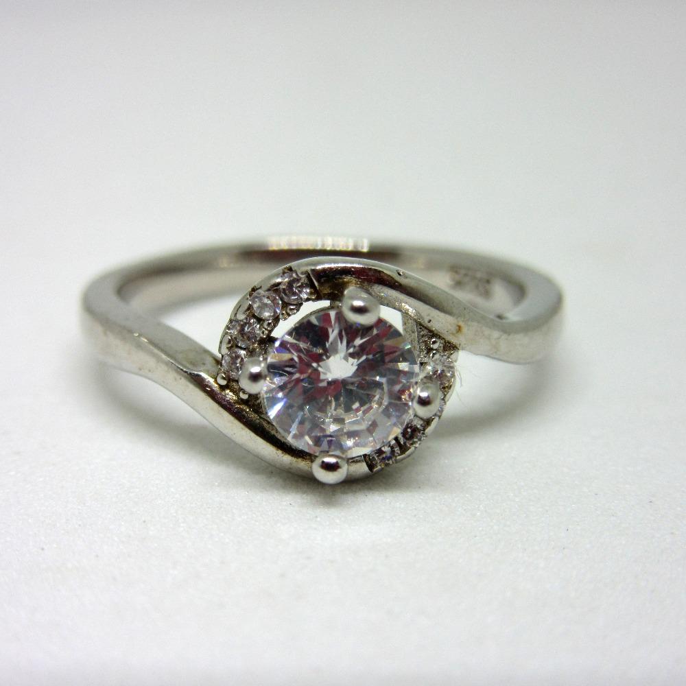 Silver 925 single stone ring sr925-5